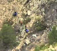 Germanwings plane crash site in aerial video